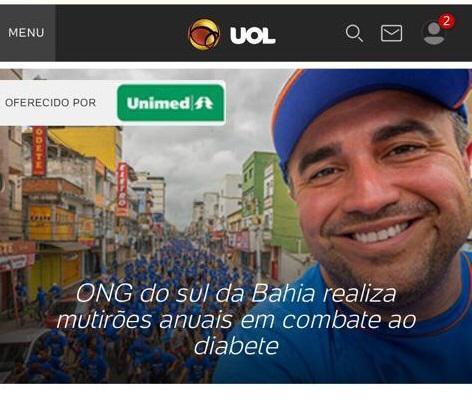 """Com """"Consultório a céu aberto"""", Mutirão do Diabetes de Itabuna e Dr. Rafael Andrade são destaques no UOL"""