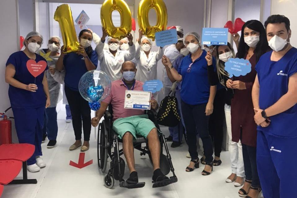 Covid-19: Hospital de Campanha de Itabuna comemora a centésima alta