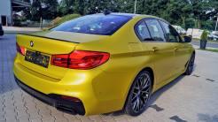 BMW m5 Gelb Foliert