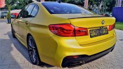 BMW m5 Gelb Foliert_1