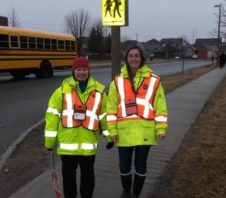 two female adult crossing guards