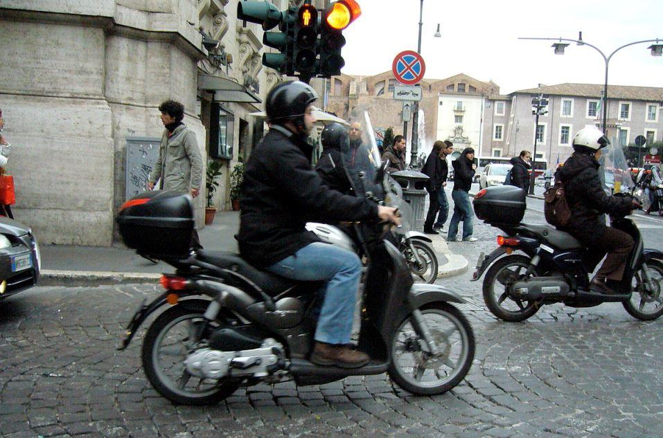 man riding motor bike