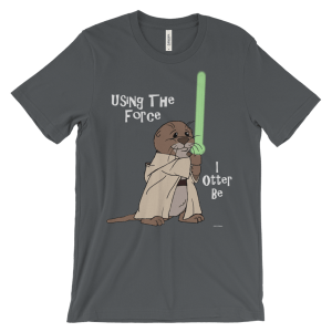 I Otter Be Using the Force Asphalt T-shirt