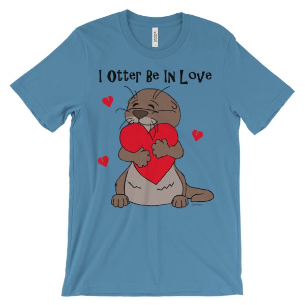 I Otter Be In Love Ocean Blue T-shirt