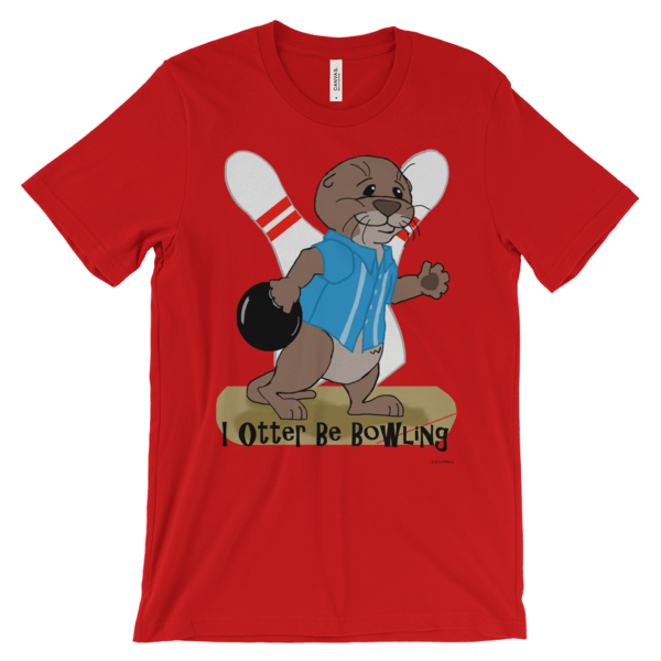I Otter Be Bowling Red T-shirt