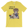 I Otter Be Reading Yellow T-shirt