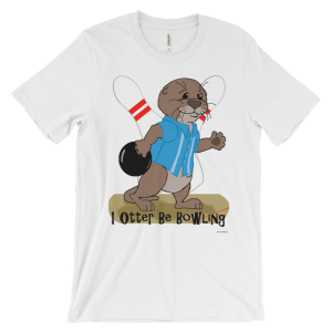 I Otter Be Bowling White T-shirt