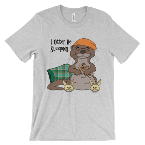 I Otter Be Sleeping Heather T-shirt