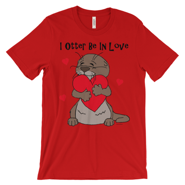 I Otter Be In Love Red T-shirt