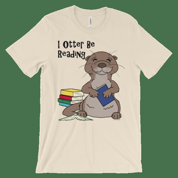 I Otter Be Reading Soft Cream T-shirt