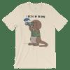 I Otter Be Birding Cream T-shirt