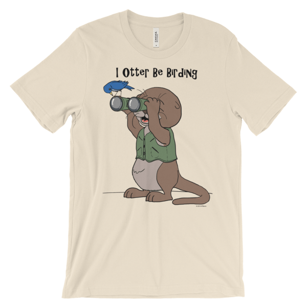 I Otter Be Birding Cream T-shirt