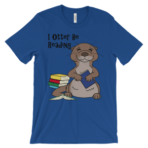 I Otter Be Reading Royal T-shirt