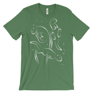 Otters Swimming Leaf T-shirt