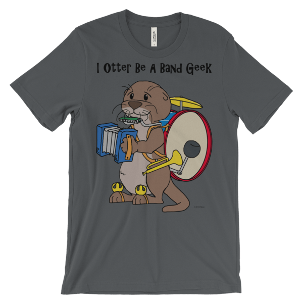 I Otter Be a Band Geek Asphalt T-shirt
