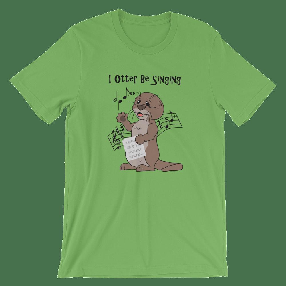 I Otter Be Singing Leaf T-shirt
