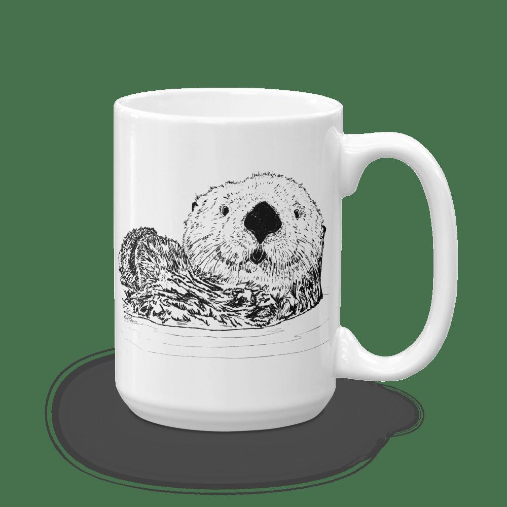 Pen & Ink Sea Otter Head Mug mockup_Handle-on-Right_15oz
