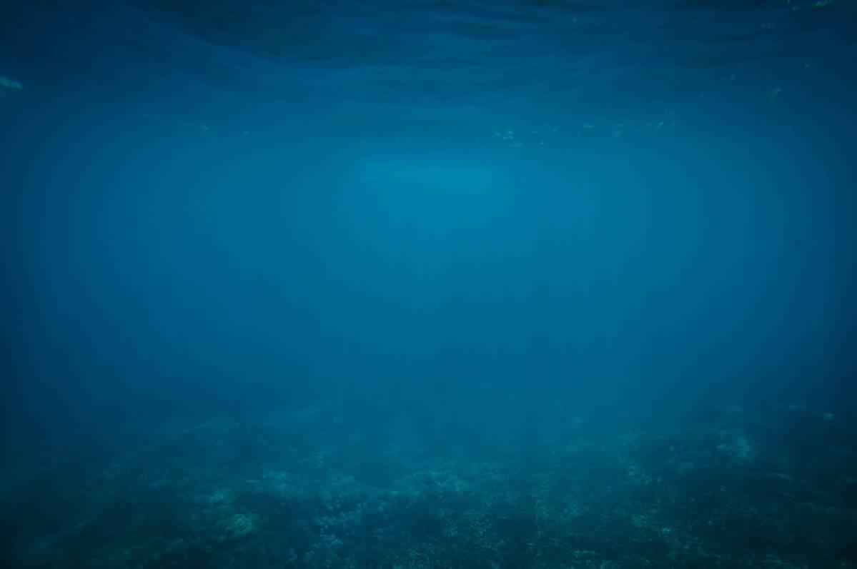 Blue underwater scene