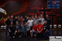 Wresting team, coaches, manager, support staff...