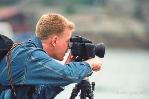 Gammal bild med en Mamiya 645 kamera