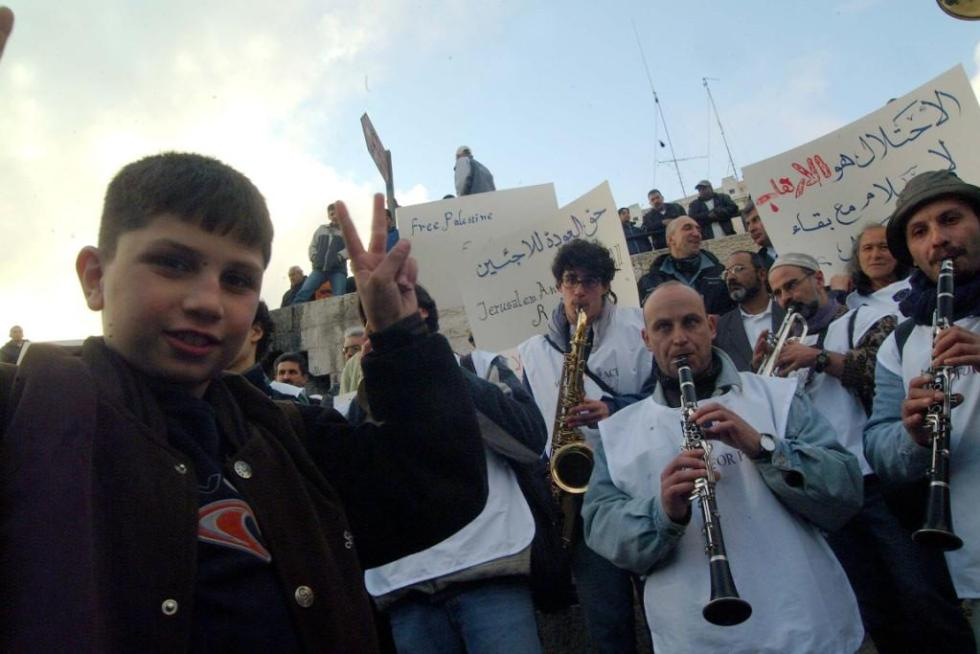 Carovana in palestina 2001