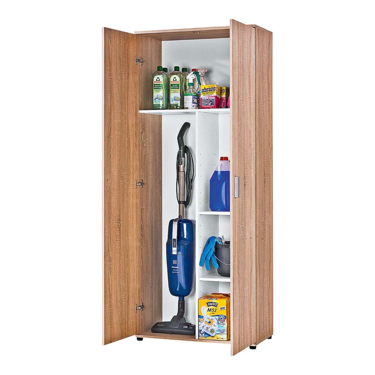 armoire a balais kreta 2 decor chene sonoma