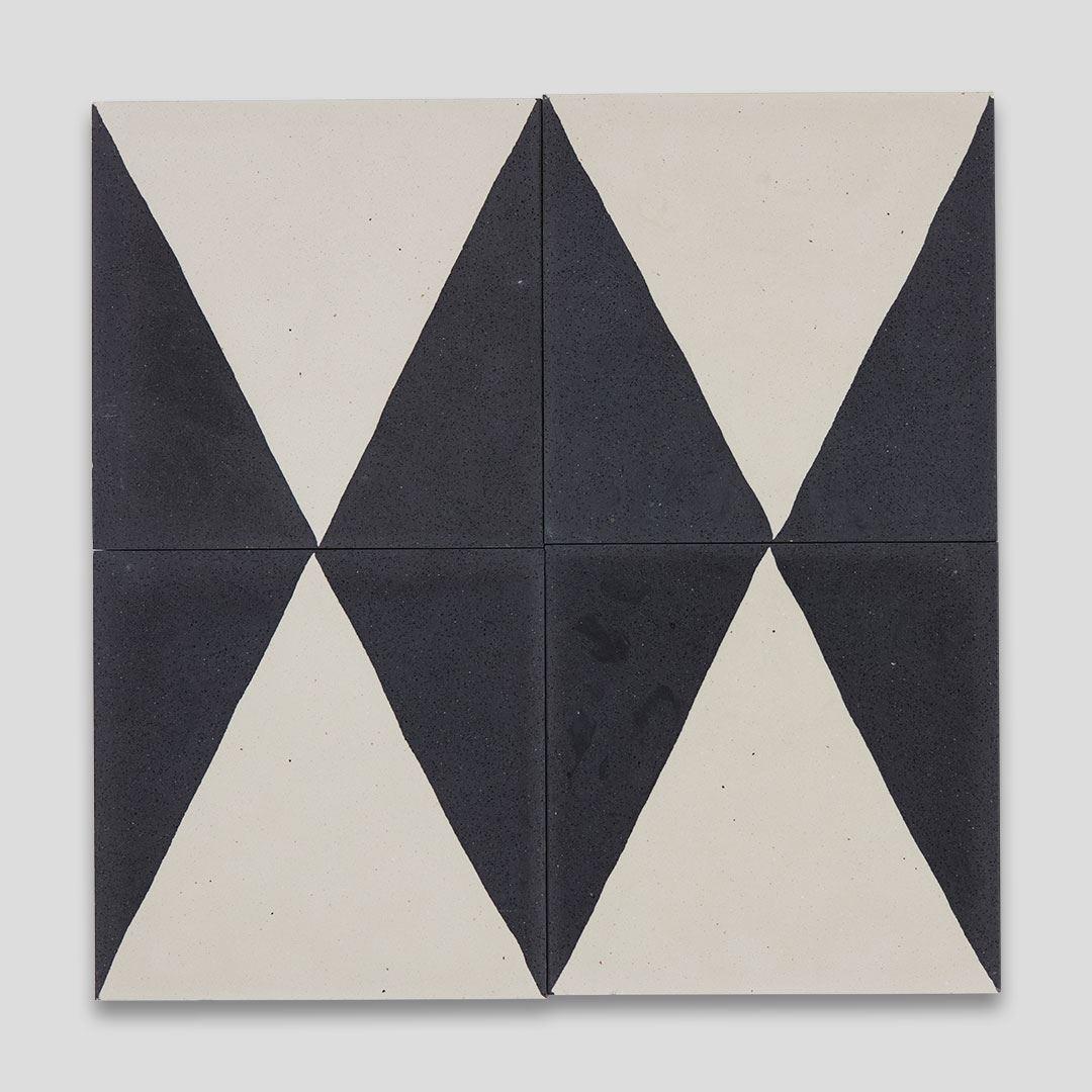 black pyramid encaustic cement tile otto tiles design