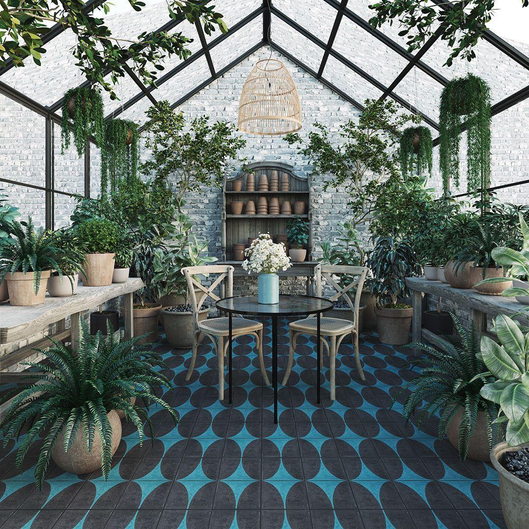 turquoise dreams encaustic cement tile otto tiles design