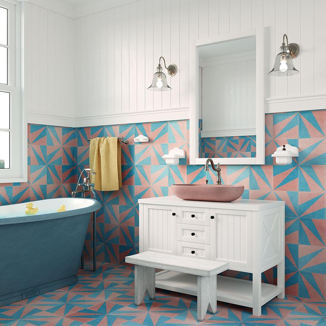 turquoise london encaustic cement tile otto tiles design
