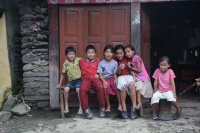 Children in the village
