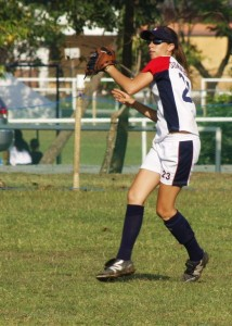 Bethany making a play from outfield