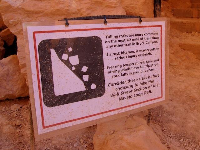 dangerous falling rocks national parks