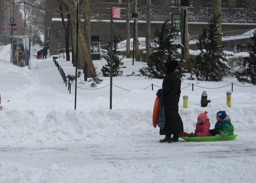 New York City sledding