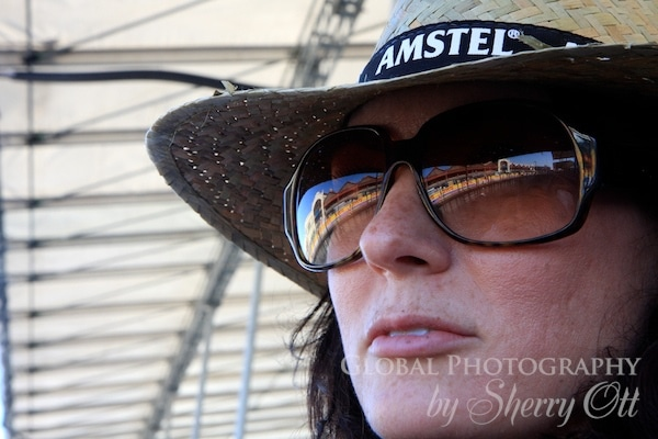 race track reflection