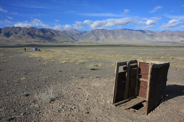toilet with a view mongolia