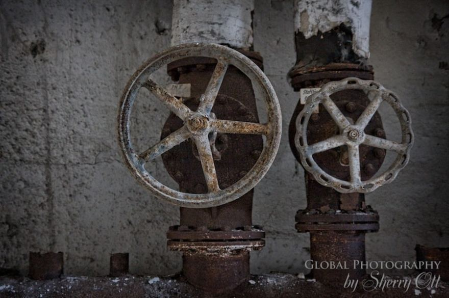 wheels valves abandoned factory berlin