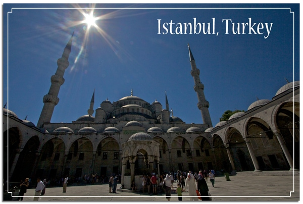 Postcard Blue Mosque Istanbul