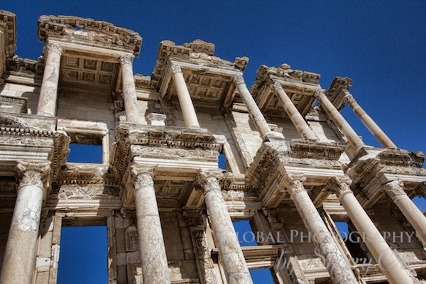 The columns of Celsus Library still stand