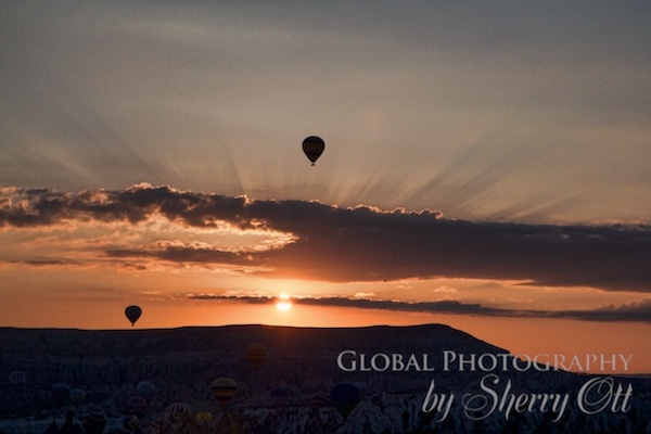 sunrise over cappadoccia