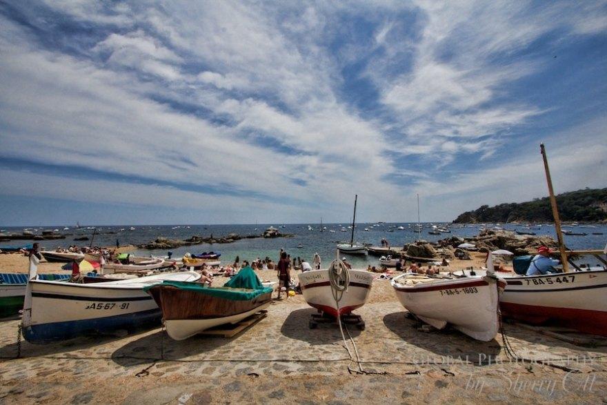 fishing boats calella de palafrugell costa brava spain