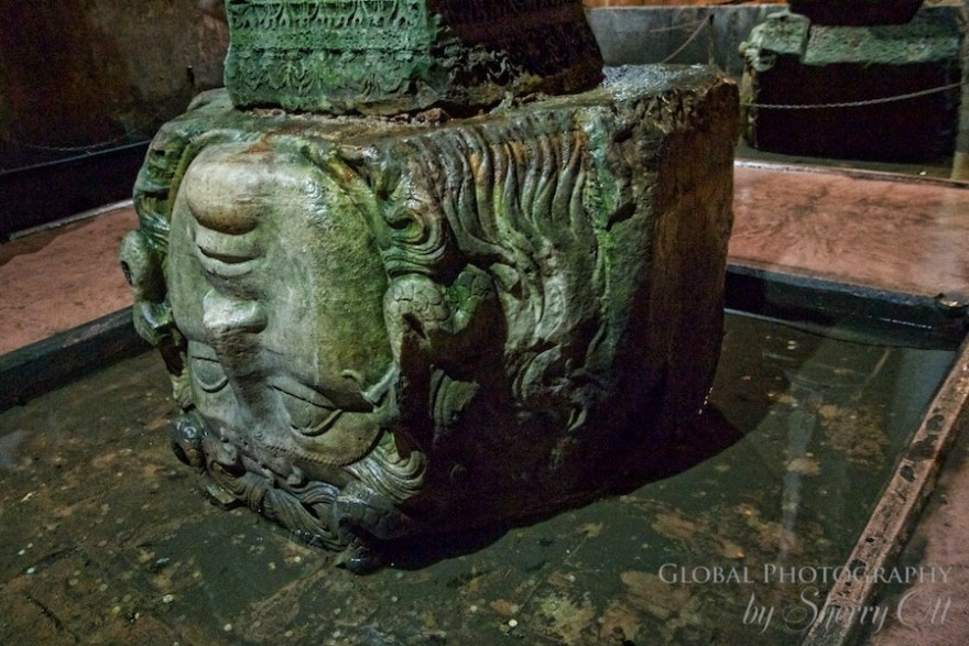 Inverted Medusa in Basilica Cistern