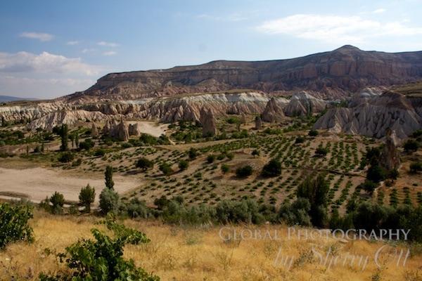 The ground level views of Cappadocia