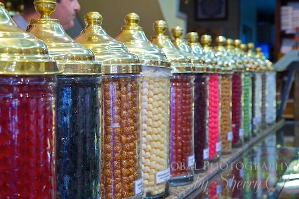 colorful candy jars
