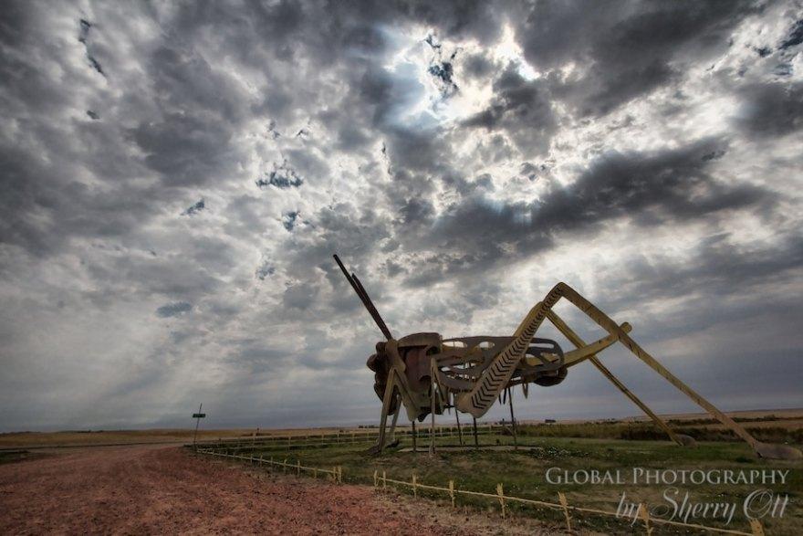 Enchanted Highway North Dakota Grasshopper metal sculpture