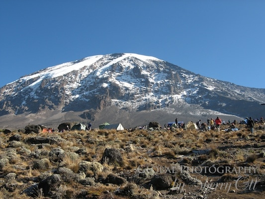 Camping - with a clear view of Mt. Kilimanjaro