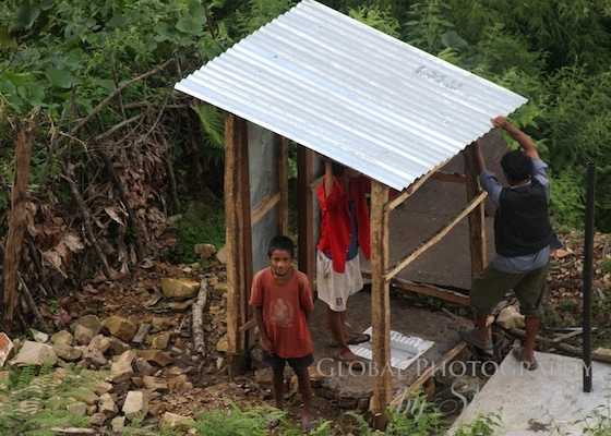 building toilets in nepal
