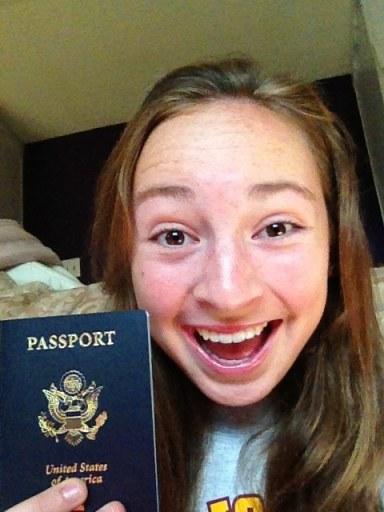 Evie and her new passport