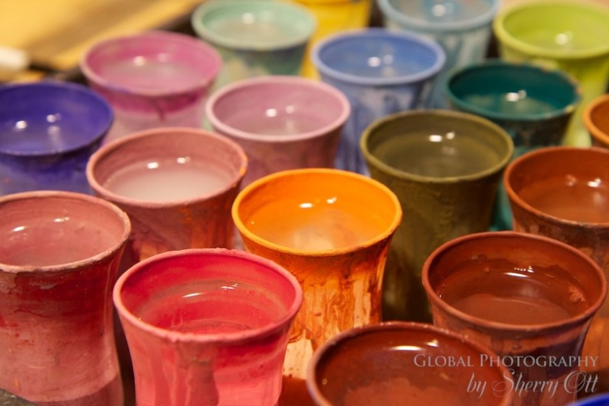 colorful photography painting pottery