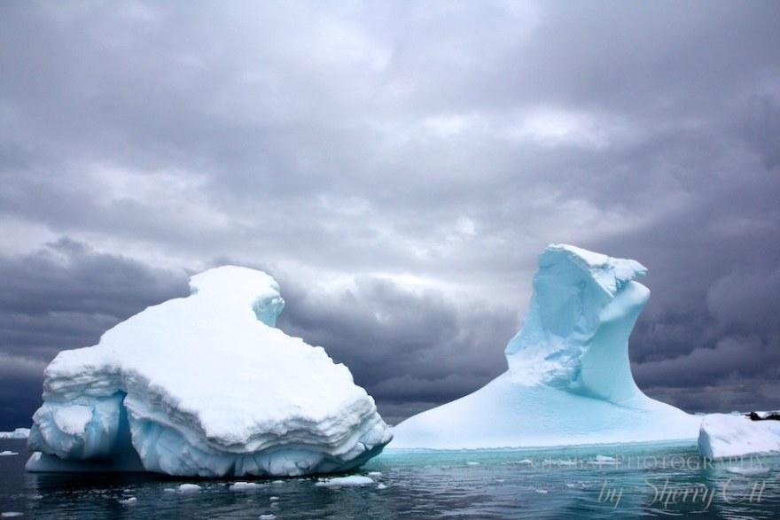antarctica iceberg shapes