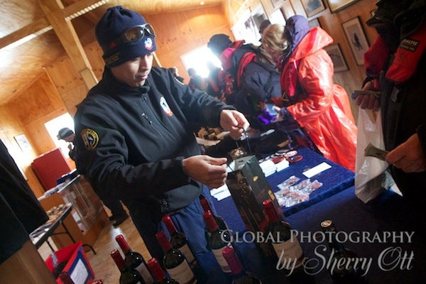 shopping at the Chilean base in Antarctica